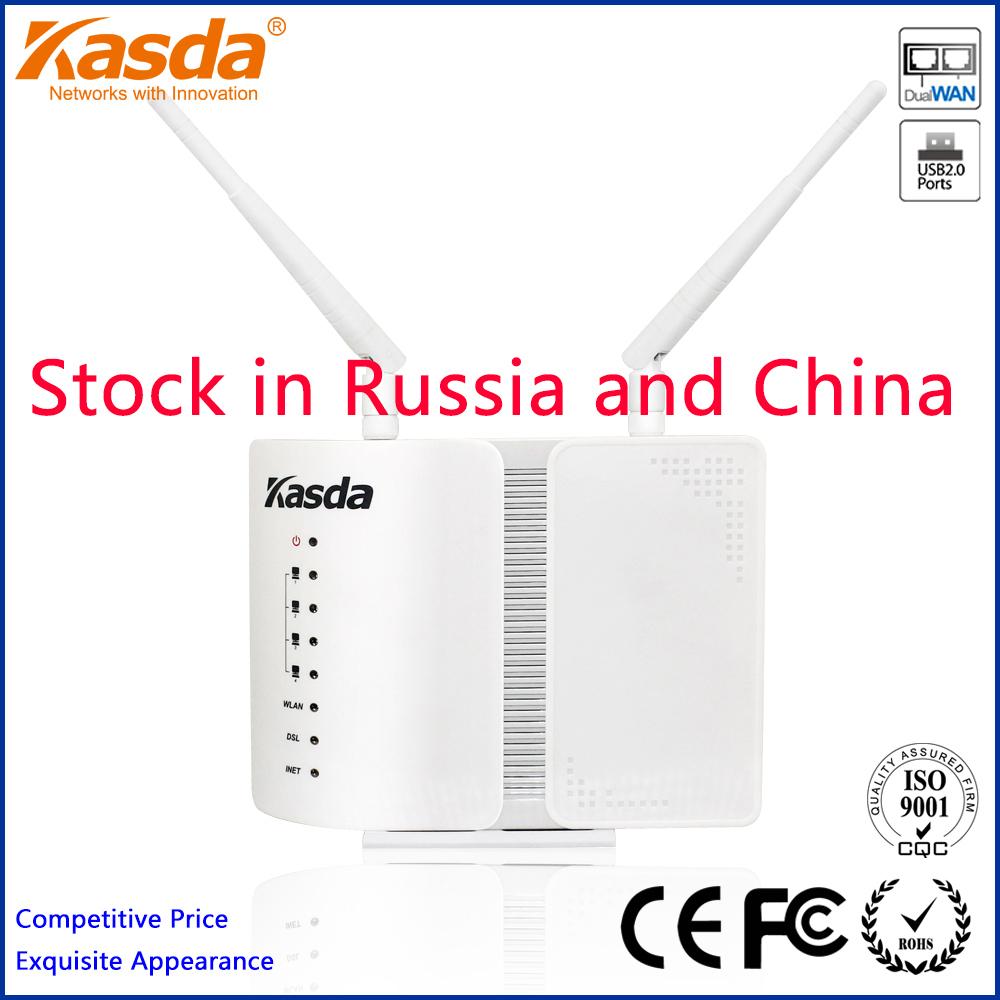 Kasda KW5813HBUS Wireless-N ADSL2+ 300Mbps WIFI Modem WLAN Router 802.11n/b/g USB Printer Server Freeshipping(China (Mainland))