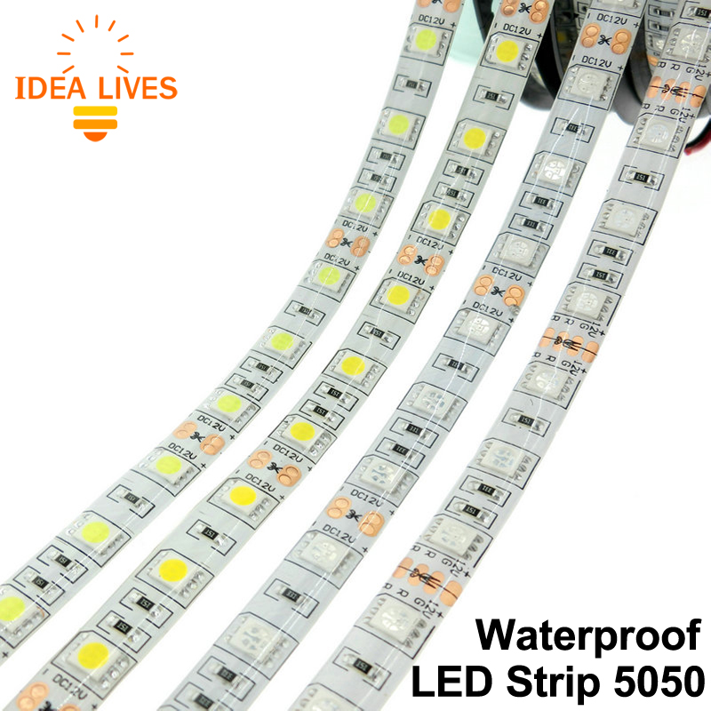 LED Strip 5050 Waterproof DC12V 60LEDs/m 5m/lot Flexible LED Light RGB 5050 LED Strip.(China (Mainland))