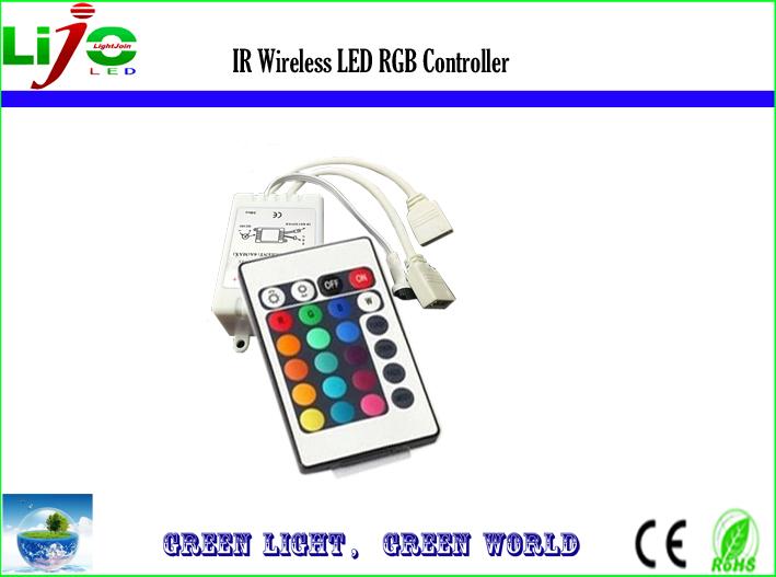 Free shipping 12V 24V 24key IR remote RGB controller for RGB strip RGB module(China (Mainland))