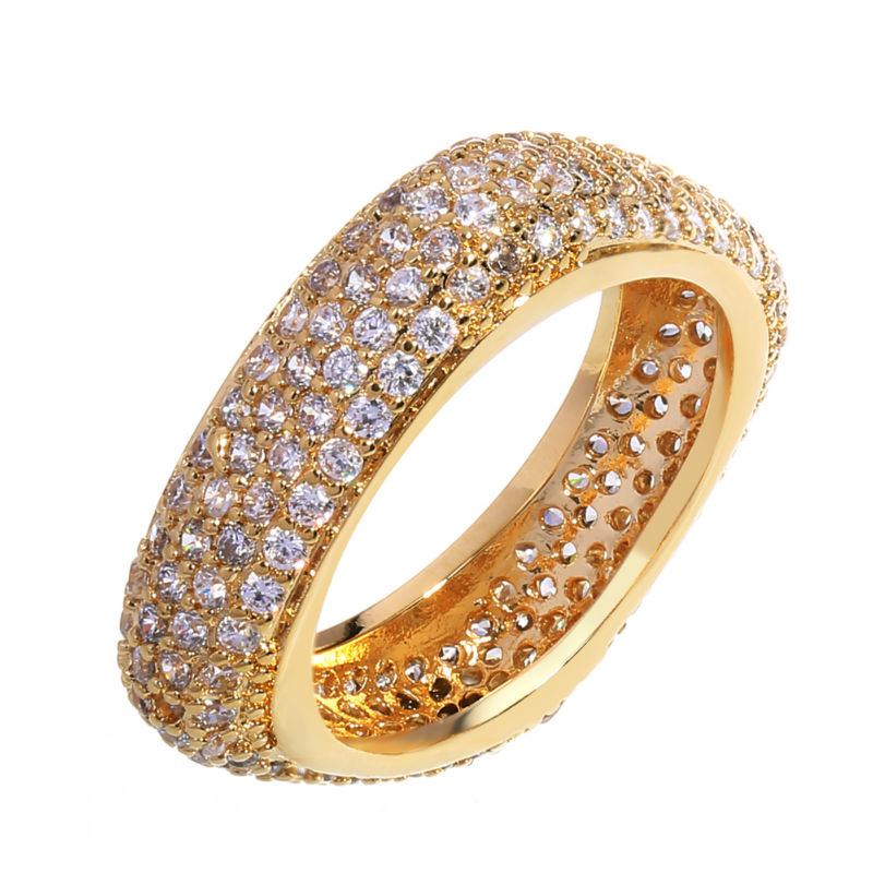 Women Wedding Band Rings Round Corners Square Ring Rhodium Gold-color Synthetic Cubic Zirconia Lead Fee Sizes 5 10