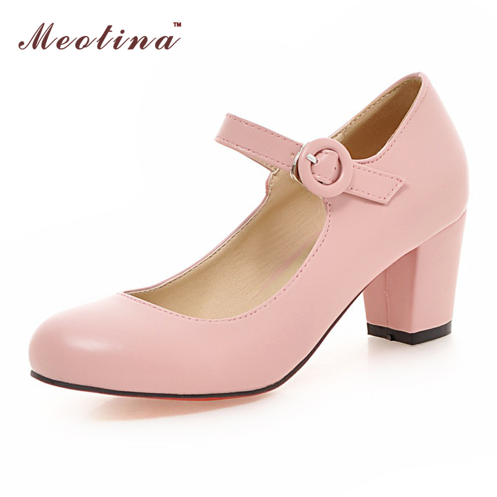 Mid Heel Pink Shoes