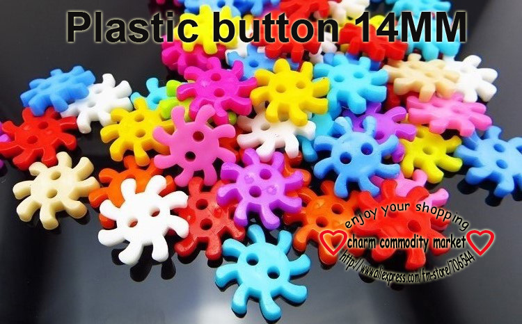 50PCS 14MM GEARS CARTOON kids buttons plastic clothing for sewing jewelry fitingS P-166-1(China (Mainland))