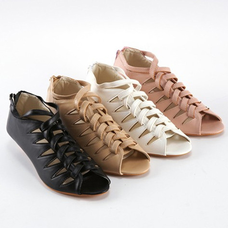 Gladiator Shallow Med summer shoes open toe Women Sandals ...