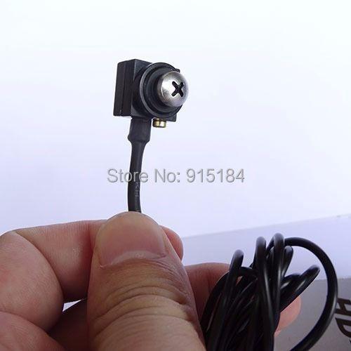 700TVL Mini Wired Hidden Screw Pinhole Camera Color Video AV Security Cam Home Car Surveillance 1280 x 960 NTSC / PAL(China (Mainland))