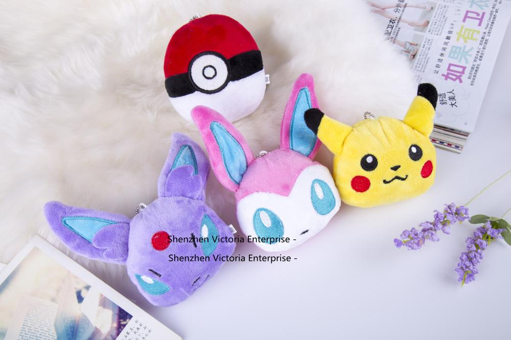 Super HOT 4Models 9-15cm Pikachu Plush Stuffed Toy , Gift Pendant TOY Wedding Bouquet Gift Plush DOLL(China (Mainland))