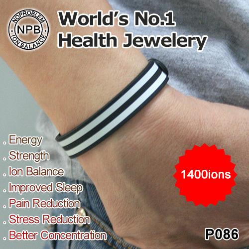 Noproblem Ion Balance Tourmaline Power titanium health bracelet wrist P086<br><br>Aliexpress