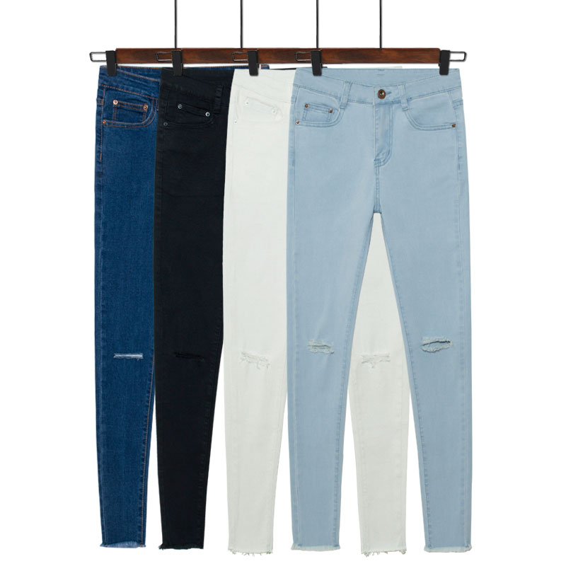 High Quality Jeans Ripped Knees-Buy Cheap Jeans Ripped Knees lots