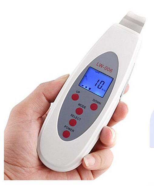 Powerful Digital Facial LCD 4 modes Ultrasound Ultrasonic Face Skin Cleaning Skin care Acne Removal Spa Facial Pores Cleanser(China (Mainland))