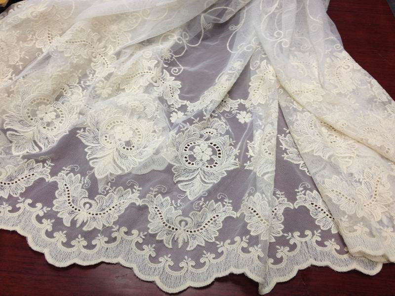 Buy ivory vintage style lace fabric for Wedding dress fabric stores