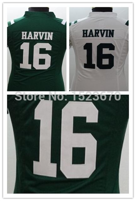 Women NYJ 16 Percy Harvin Jersey Women Embroidery Logos Football Jersey 100% Stitched Size S,M,L,XL,XXL(China (Mainland))