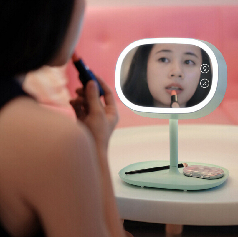 2016 MUID New Novelty mirror lamp with LED table lamp with make up mirror multi function lamp reading lamp<br><br>Aliexpress