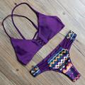 Sexy 2015 Mulheres Bandage Push Biquíni Definir Sutiã Acolchoado Do Vintage Clássico Retro Swimsuit Swimwear Maiô Beachwear Biquíni
