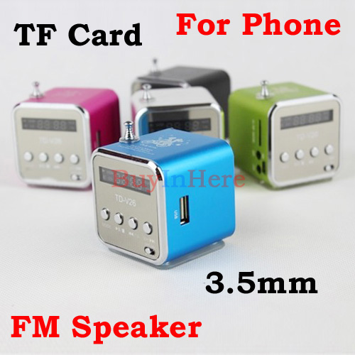 Led Digital 3.5MM Audio Micro TF SD Card U Disk USB Stereo Speaker FM Radio For Tablet MP3 MP4 MP5 Music Player weifen<br><br>Aliexpress