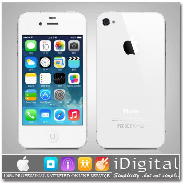 "Original Apple iPhone 4 Unlocked 16GB/32GB IOS 7 1.0GHz 3G WIFI GPS 5.0MP 3.5""IPS 960*640px Brand Mobile Phone USED(China (Mainland))"