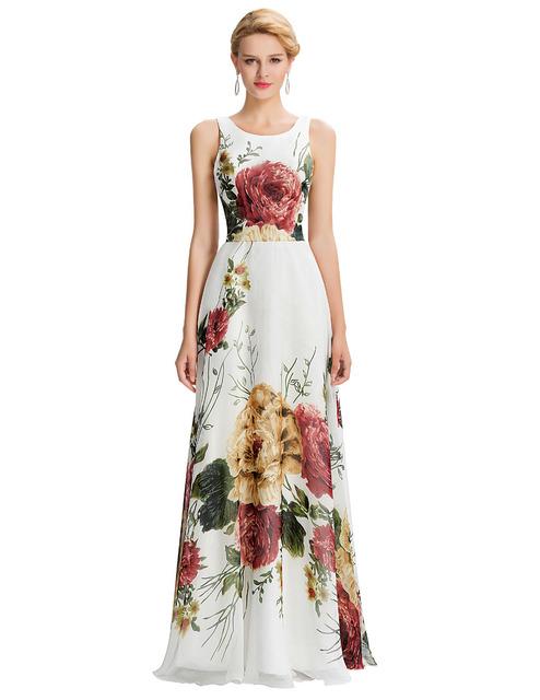 Последние Дизайн Грейс Карин Одеяние Длинныйue Роуз Цветочные Формальное Вечернее ...