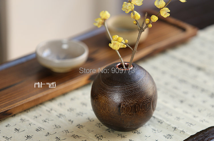 tea ceremony 100% paulownia vase Wooden mesa