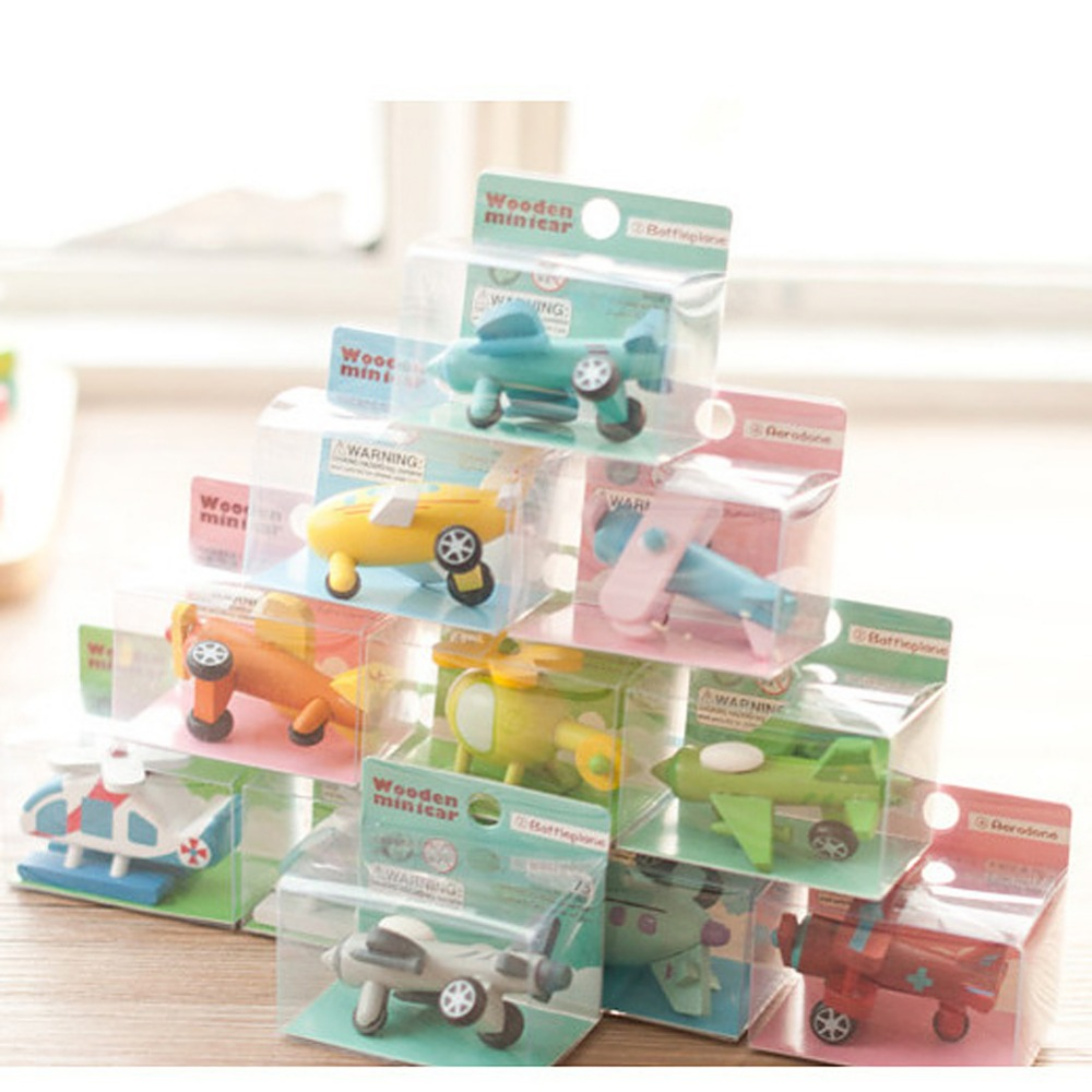 Mini Multi-pattern Creative Toys Export Children Diecasts Wooden Airplane Toy Kids Baby Educational Gift Kid's Toy(China (Mainland))