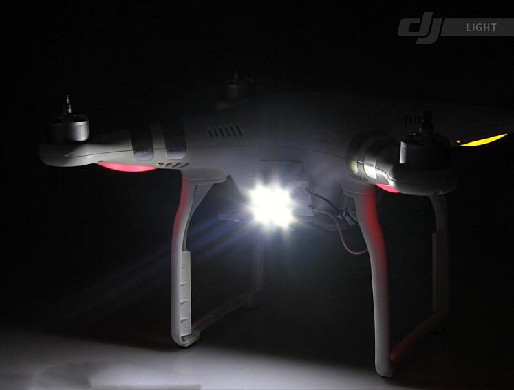 Super Bright 4 LED Projector Search Light Fr DJI Phantom 3 Inspire 1 Night Flying 2 models
