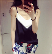 2015 Summer Style Sexy Womens Sleeveless Halter Blouses Casual Vest Loose Chiffon Blouse V Neck Tank Tops Plus Size White Blusas