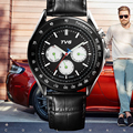 TVG Brand Military Sport Watch Analog Display Date Chronograph Genuine Leather Watch Men Watches Relogio Masculino