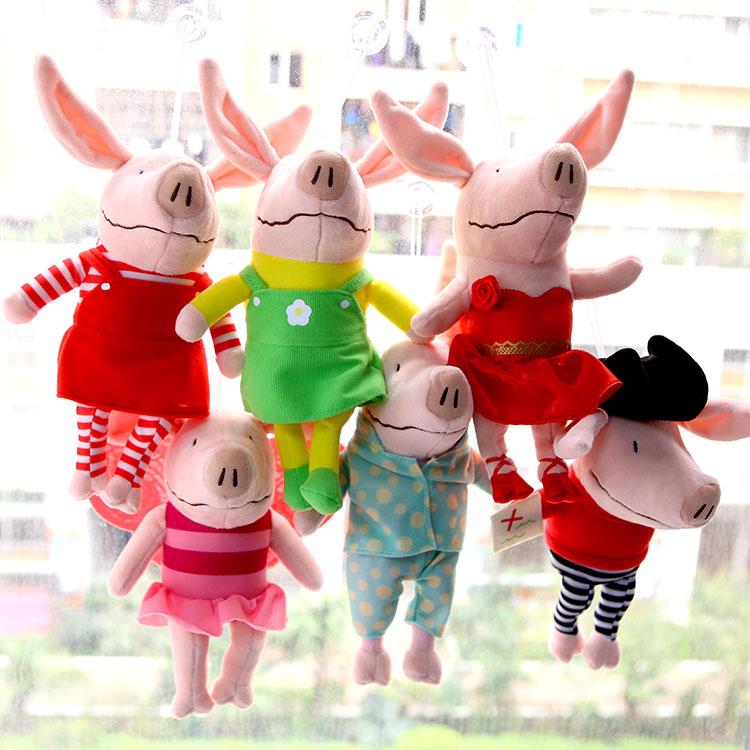 "1PC 30cm 11.8"" Pink Pig Plush Toys Cute Soft Children Gift Baby Doll(China (Mainland))"