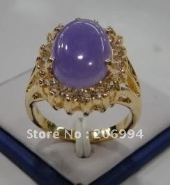 Wholesales-Jewellery pretty purple jade rings size7-9 2pc/lot gift free shipping