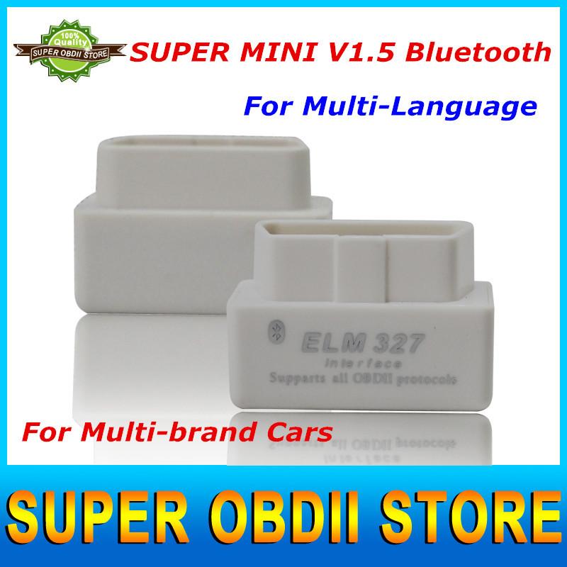 2015Best Wholesale Price ELM327 Original V1.5 Bluetooth OBDII CAN-BUS Diagnostic Interface Scanner MINI Bluetooth ELM 327 OBD 2(China (Mainland))
