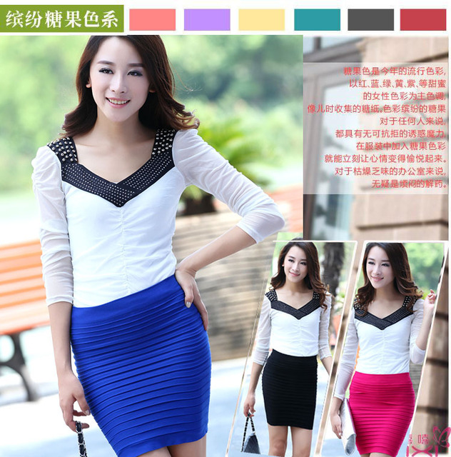 HOT hot sell 2013 fashion style A-line mini lady skirt short skirt magic design 14 Color pleated skirt elastic + Free shipping