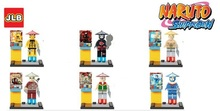 Wholesale JLB 60Pcs Building Blocks Super Heroes Figures Naruto Shippuden Minifigures Bricks Children Toys Compatible With