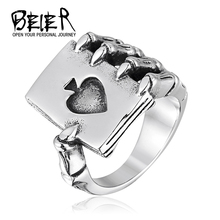 Aliexpress  Jewelry Stainless Steel Man's Fashion Ring Poker Skull Hand Claw Ring Exaggerated New