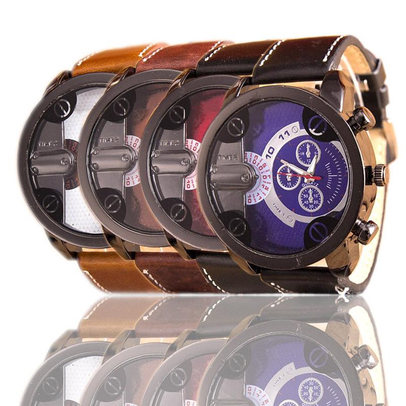 2016 Genuine Leather Watches Men Quartz Digital Fashion Military Casual Sports Watch Luxury Brand Relogio Outdoor Wristwatches<br><br>Aliexpress