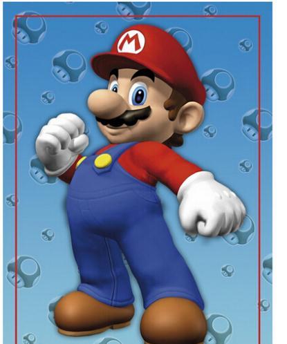 Nintendo Super Mario cartoon Cusrom Hot Sale Home Decor Movie Wall Poster Custom Picture PVC (Unframed) Wall Sticker #0344(China (Mainland))