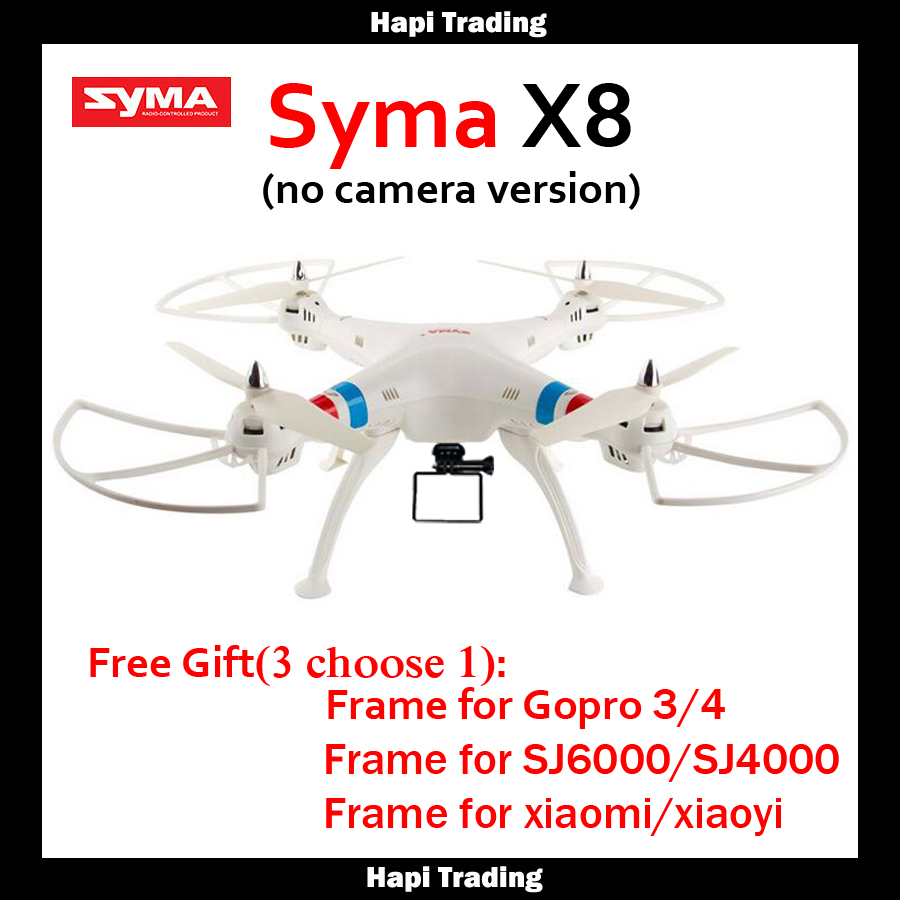 Syma X8C X8G x8 Quadcopter 2.4G 6Axis Headless Mode RC Helicopter Without Camera Professional Drone Can Carry Gopro/Xiaoyi/SJCAM(China (Mainland))