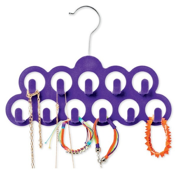 Hangerworld Flocked Accessory Hanger/ Belt Hanger for Jewelry, Necklace and Scarf (10 Pieces/ Lot)(China (Mainland))