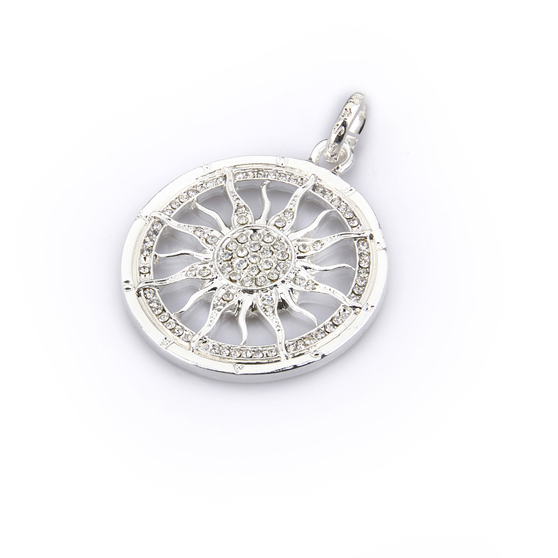 High quality Wholesale Super deal Silver circle round the sun charms ts1182 Free shipping Thomas Style(China (Mainland))