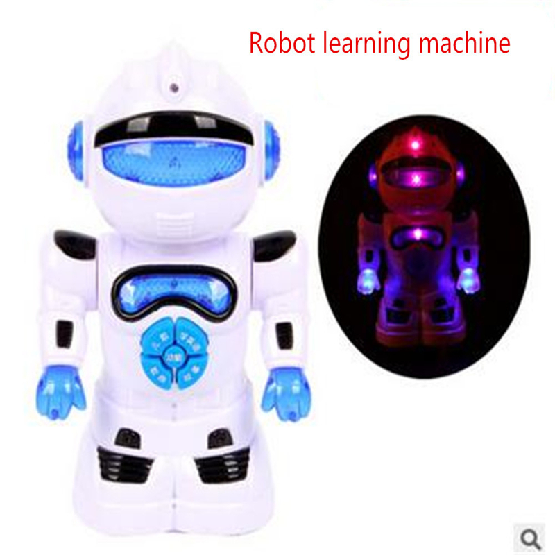 2016 New for Intelligent Robot Learning Machine Electric Universal Light-emitting Puzzle Educational Toys for Children Study(China (Mainland))