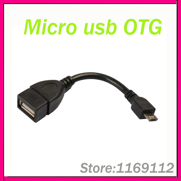 OTG Micro USB OTG Cable for HTC ONE for Samsung Galaxy S4 S3 S2 i9300 i9500 i9100 Note i9220 tablet pc connect to mouse/keyboard(China (Mainland))