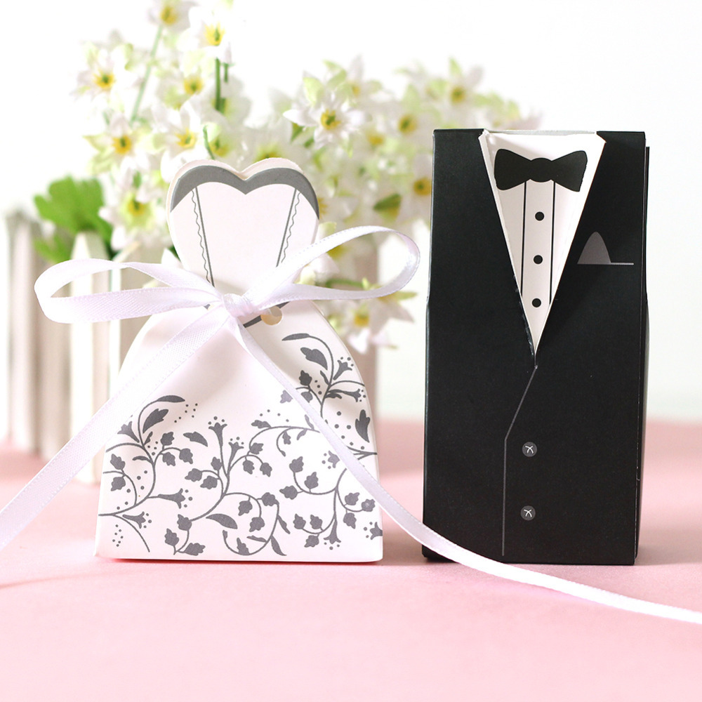 Wedding decoration cartoon cute100pcs lot candy boxes for 7p decoration