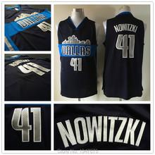 Neue Ankunft! Dallas #41 Dirk Nowitzki Basketball Jersey Neuen Stil Navy Blue Stadtbild Rev 30 Basketball Jerseys Genäht Logos(China (Mainland))