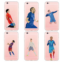 Buy DIFFRBEAUTY Phone Case For Samsung s6 for iphone 5 SE 6 6s 7 plus 8 plus Famous Football team Antoine Griezmann Messi Star Case for $2.38 in AliExpress store