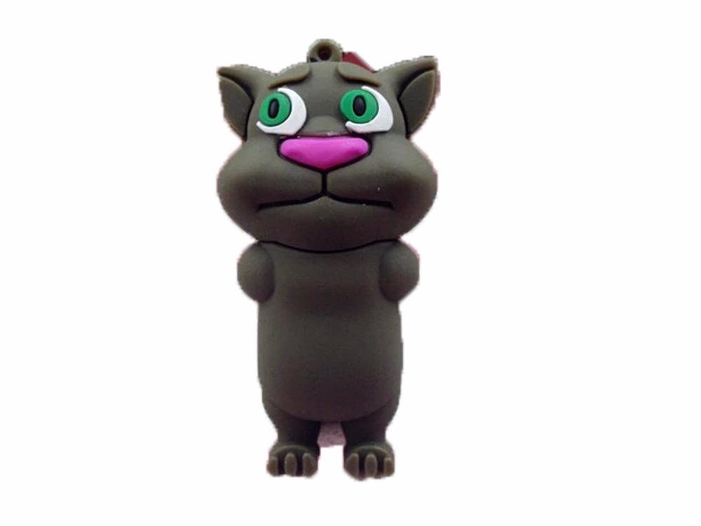 Cartoon Cat USB Flash Drive Pen Drive 64GB 32GB 16GB 8GB Memory Stick USB 2.0 U Disk Pendrive(China (Mainland))
