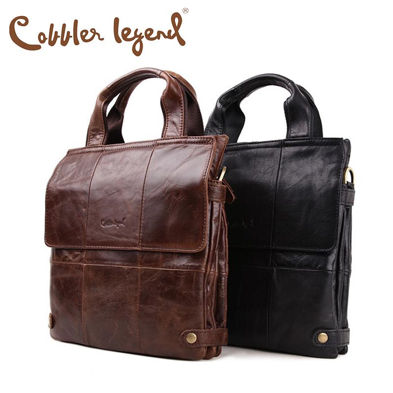 Top Brand Quality 100% Natural Cowhide Genuine Leather Men's Briefcases Tote Handbags Shoulder Bags Bolsas Portfolios Hombre(China (Mainland))