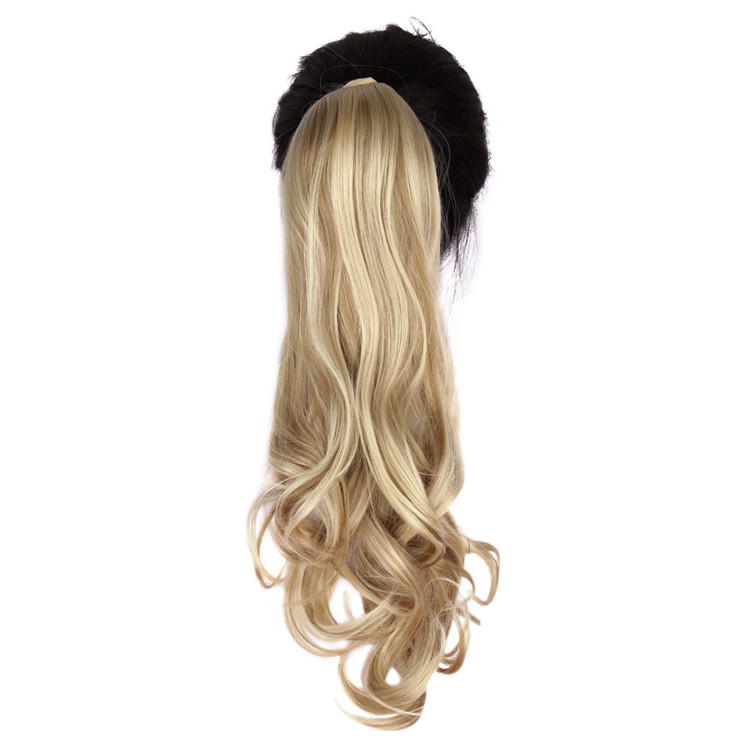 """Гаджет  24"""" hair Synthetic Long Curly Wavy   Ponytail Hair Extension Velcro Straps Around Hairpiece my little pony tail WP241G75  None Волосы и аксессуары"""