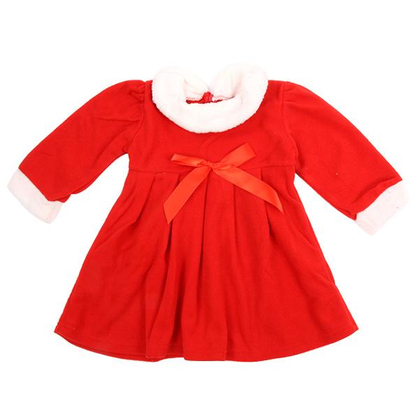 Sweet Kids Baby Girl Bowknot Princess Dress + Hat Suits Xmas Christmas Apparel(China (Mainland))