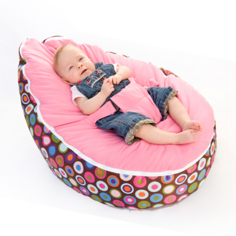 Multicolors Baby Bean Bag Kids Bed for Sleeping Portable Folding Newborn Sofa Harness Safety Belt Filler do not included(China (Mainland))