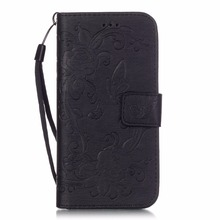 Embossing Flowers PU Leather Wallet Case for iPhone 6 Plus 6S Plus 5.5″ Vintage Phone Cover Magnetic Cases with Strap