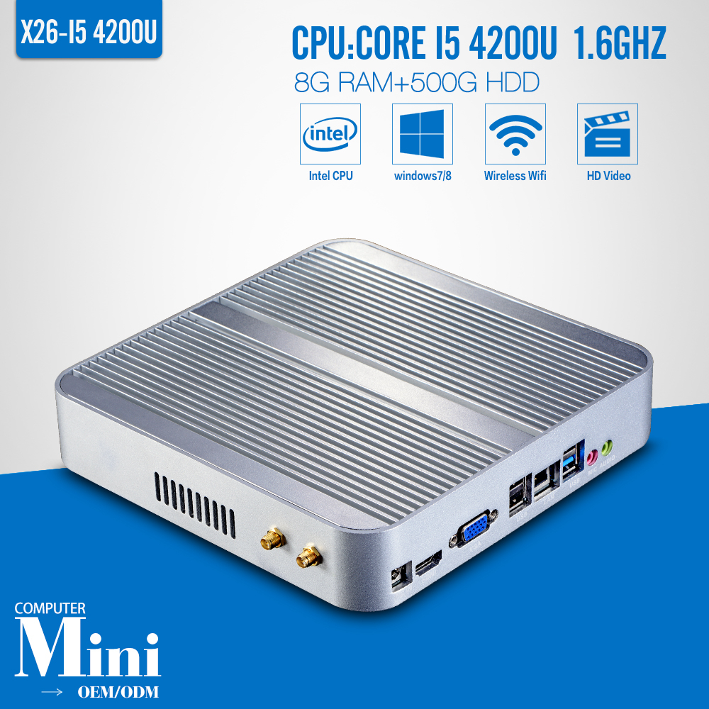 Highest Cost Effective I5 4200U 8GB RAM 500GB HDD Desktop Computer Case Thin Client Linux Computer NetworkinG Support Win7(China (Mainland))