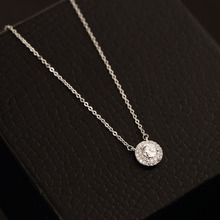 High Quality Box Package Red Trees Jewelry Crystal Rhinestone Necklace For Women Romantic 45 cm White Gold Plated Chain(China (Mainland))