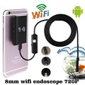 Wifi Wireless For iOS Android Endoscope Borescope HD 2 0MP 8mm 1M Waterproof Camera