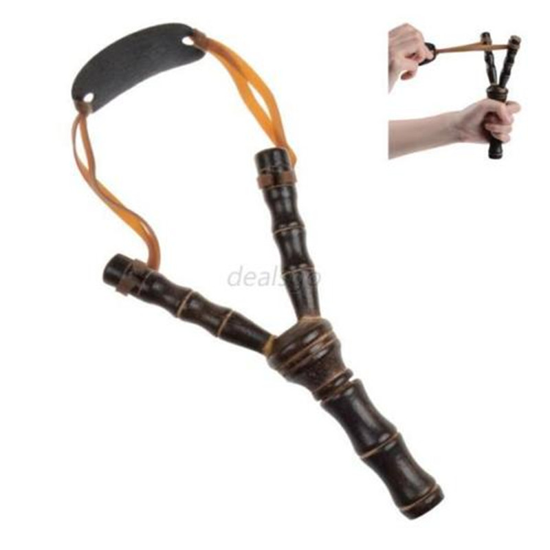 Useful Powerful Hiking Outdoor Slingshot Wooden Sling Shot Catapult Hunting Tool(China (Mainland))